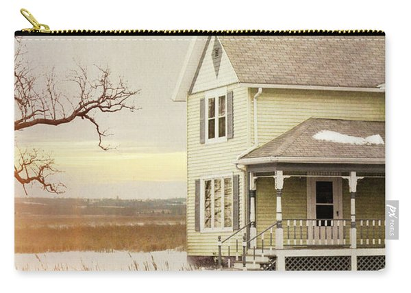 Farmhouse In Winter Carry-all Pouch