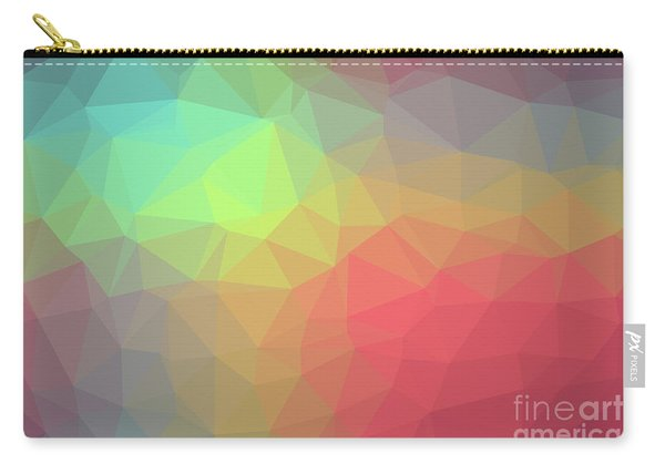 Gradient Background With Mosaic Shape Of Triangular And Square C Carry-all Pouch