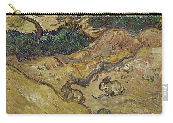 Landscape With Rabbits Carry-all Pouch