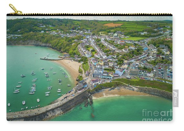 New Quay, Wales From The Air Carry-all Pouch