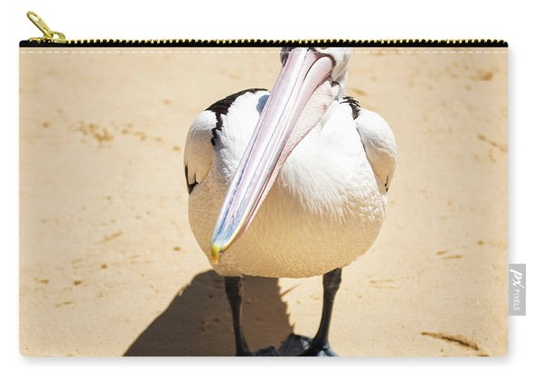 Carry-all Pouch featuring the photograph Pelican During The Day by Rob D Imagery
