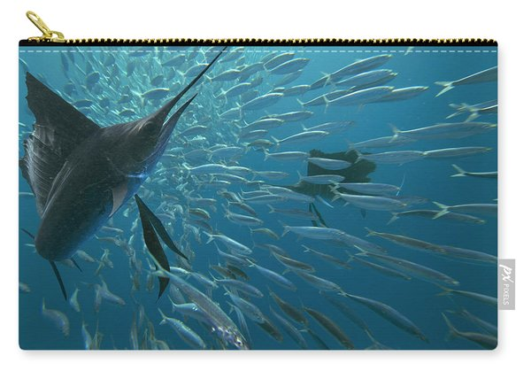 Sailfish Hunting Round Sardinella, Isla Carry-all Pouch