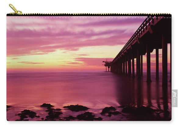 Silhouette Of A Pier In The Pacific Carry-all Pouch