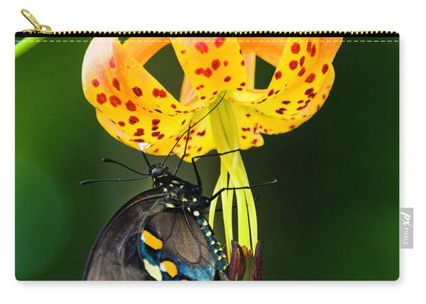 Swallowtail On Turks Cap Carry-all Pouch