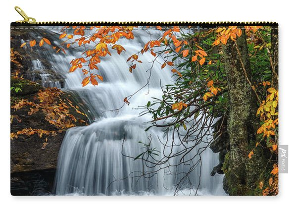 Waterfall And Fall Color Carry-all Pouch