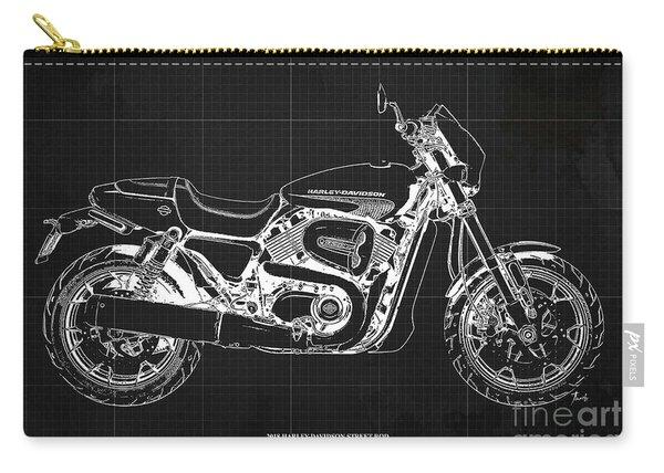 2018 Harley Davidson Street Rod, Vintage Dark Grey Background Carry-all Pouch