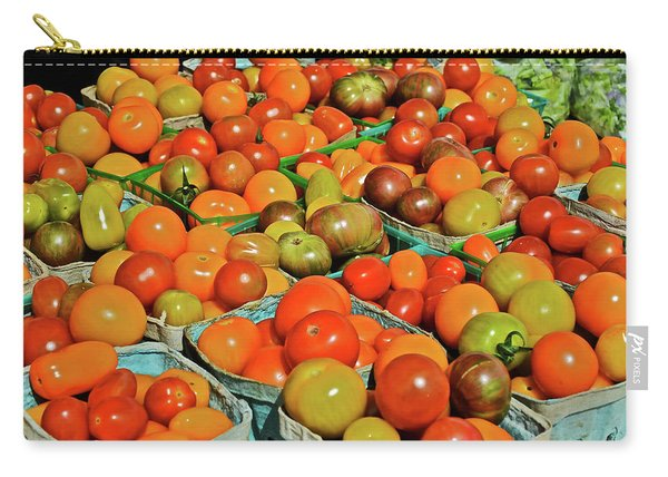 2019 Farmers' Market Spring Green Cherry Tomatoes Carry-all Pouch