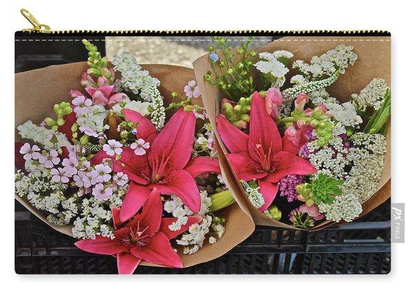 2019 Monona Farmers' Market July Bouquets 1 Carry-all Pouch