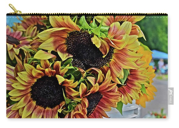 2019 Monona Farmers' Market July Sunflowers 2 Carry-all Pouch