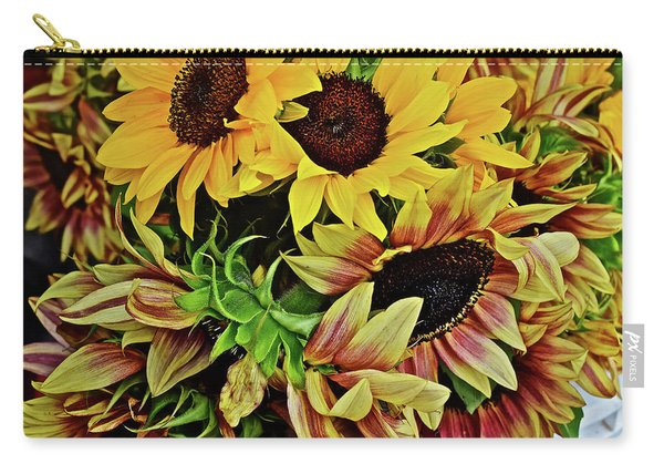 2019 Monona Farmers' Market July Sunflowers 4 Carry-all Pouch