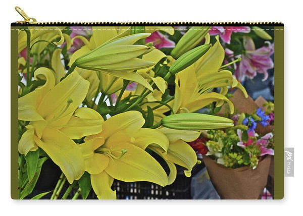 2019 Monona Farmers' Market July Yellow Lilies Carry-all Pouch