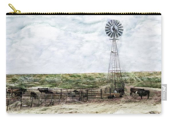 Carry-all Pouch featuring the digital art Classic Cattle II by Don Northup