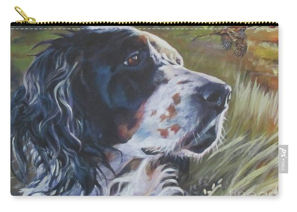 English Setter In The Field Carry-all Pouch