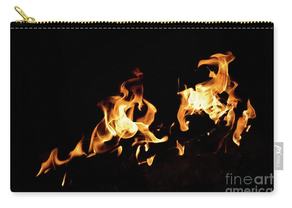 Flames In The Fire Of A Red And Yellow Barbecue. Carry-all Pouch
