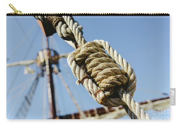 Rigging And Ropes On An Old Sailing Ship To Sail In Summer. Carry-all Pouch
