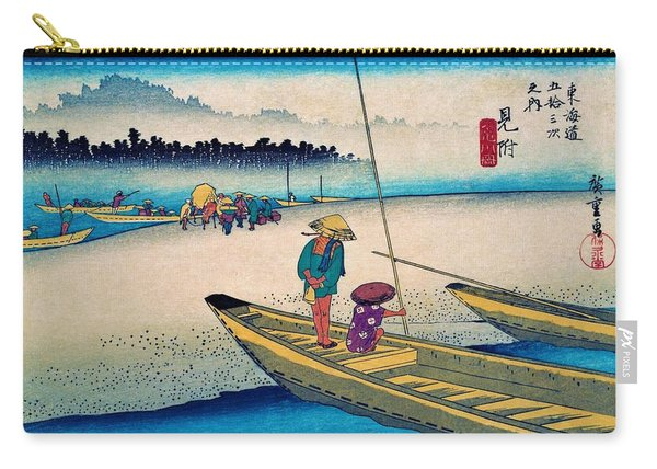 53 Stations Of The Tokaido - Mitsuke, Tenryu River Carry-all Pouch