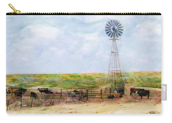 Carry-all Pouch featuring the digital art Classic Cattle  by Don Northup
