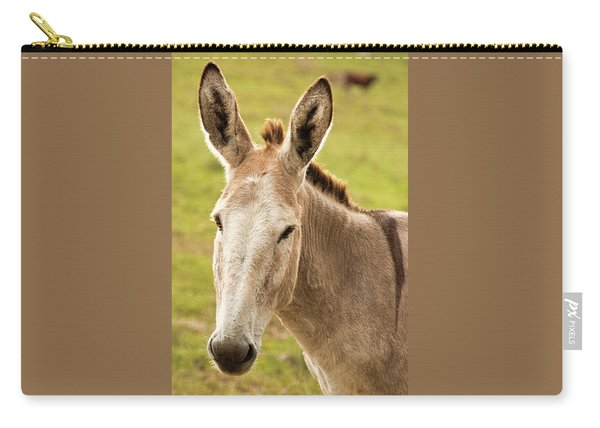 Carry-all Pouch featuring the photograph Donkey Out In Nature by Rob D Imagery