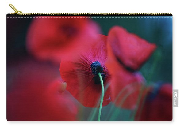 Red Corn Poppy Flowers Carry-all Pouch