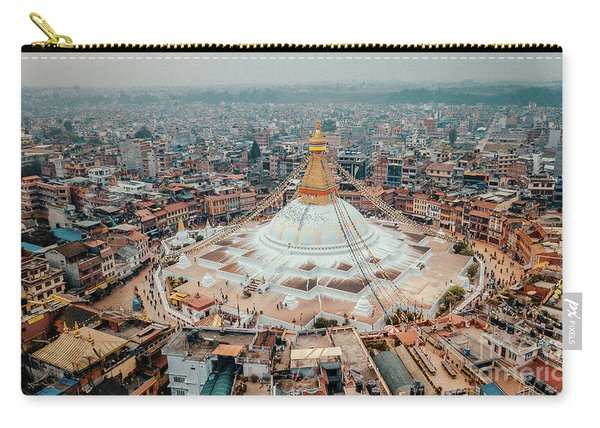 Stupa Temple Bodhnath Kathmandu, Nepal From Air October 12 2018 Carry-all Pouch