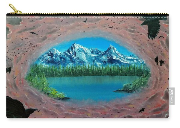 Carry-all Pouch featuring the painting 400 Crows by Kevin Daly