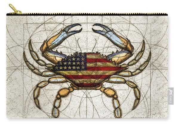 4th Of July Crab Carry-all Pouch