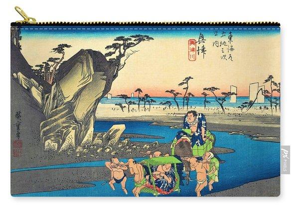 53 Stations Of The Tokaido - Okitsu, Okitsu River Carry-all Pouch