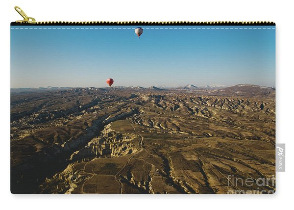 Colorful Balloons Flying Over Mountains And With Blue Sky Carry-all Pouch