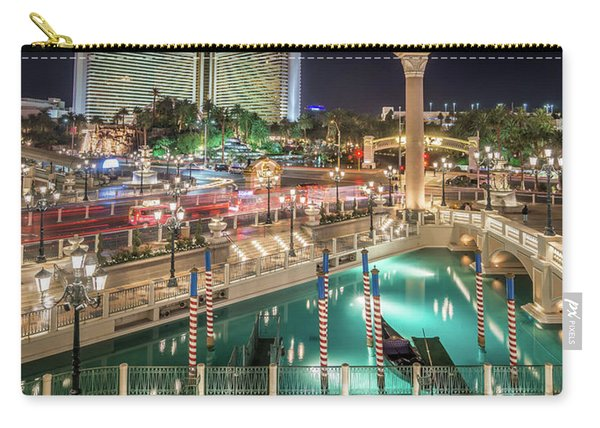 View Of The Venetian Hotel Resort And Casino Carry-all Pouch