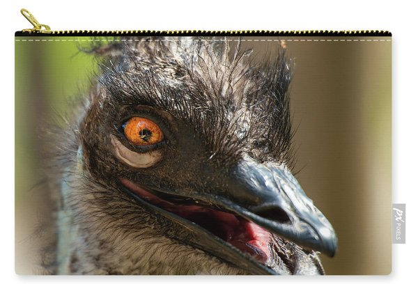 Carry-all Pouch featuring the photograph Australian Emu Outdoors by Rob D Imagery