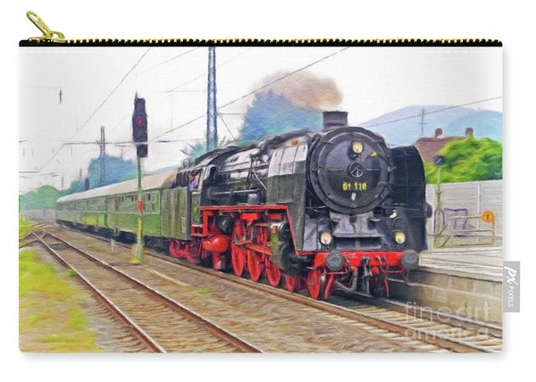 Steam Engine, Locomotive, Train Carry-all Pouch