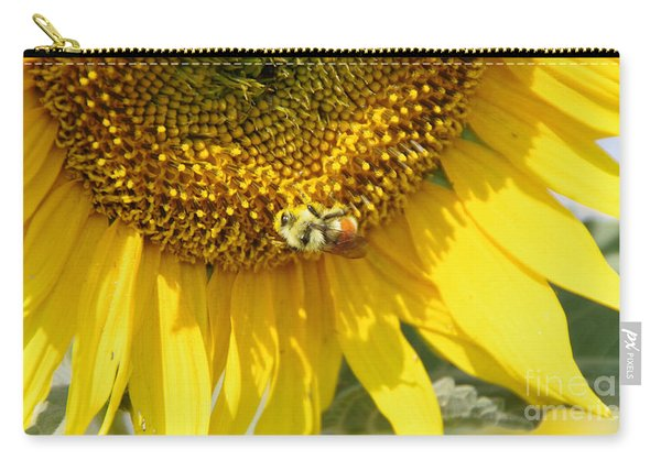 A Bumblebee And Sunflower Heaven Carry-all Pouch