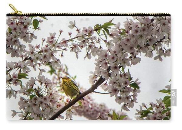 A Canary In A Cherry Tree  Carry-all Pouch