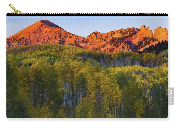 Carry-all Pouch featuring the photograph A Colorado Glow by John De Bord