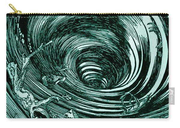 A Descent Into The Maelstrom By Edgar Allan Poe Illustration By Arthur Rackham Carry-all Pouch