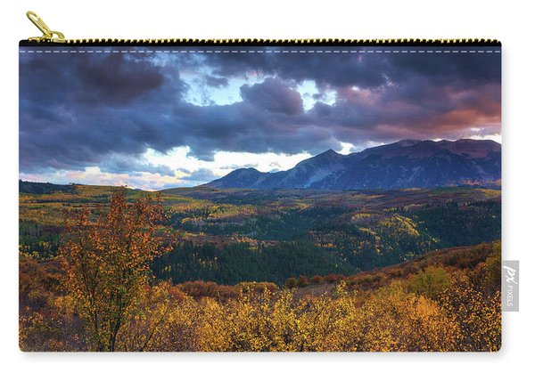 Carry-all Pouch featuring the photograph A Fall Sunset In Colorado by John De Bord