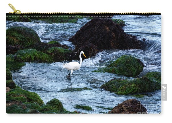 A Great Egret Watches The Incoming Tide Carry-all Pouch