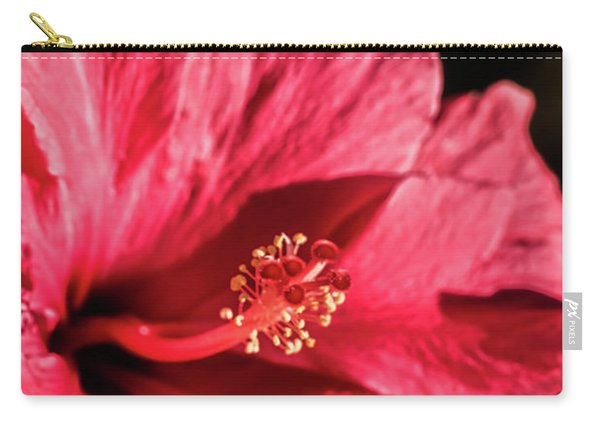 A Hibiscus Macro Carry-all Pouch