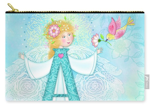 A Is For Angel Carry-all Pouch