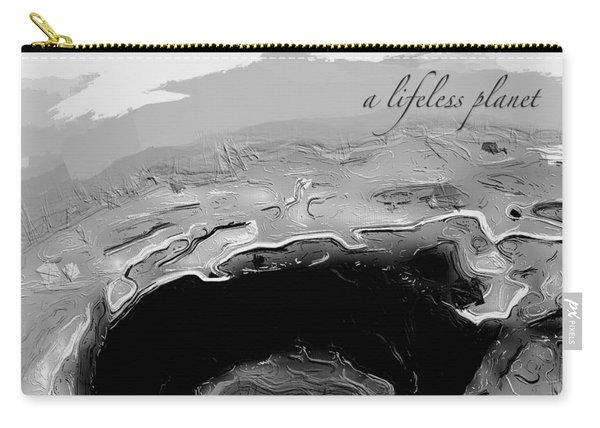 Carry-all Pouch featuring the digital art A Lifeless Planet Black by ISAW Company