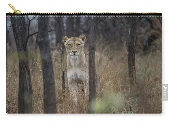 A Lioness In The Trees Carry-all Pouch