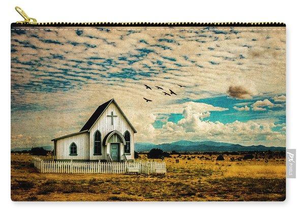 A Lone Prairie Church Carry-all Pouch