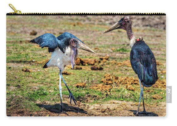 A Maribou Stork Hissy Fit Carry-all Pouch