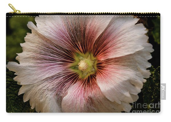 A  Pink Hollyhock Carry-all Pouch