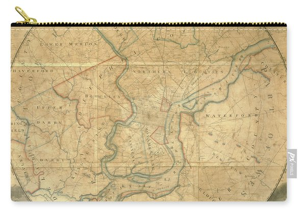 A Plan Of The City Of Philadelphia And Environs, 1808-1811 Carry-all Pouch