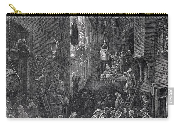 A Riverside Street, From London, A Pilgrimage Written By William Blanchard Jerrold Carry-all Pouch