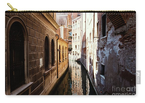 A Shadow In The Venetian Noon Narrow Canal Carry-all Pouch