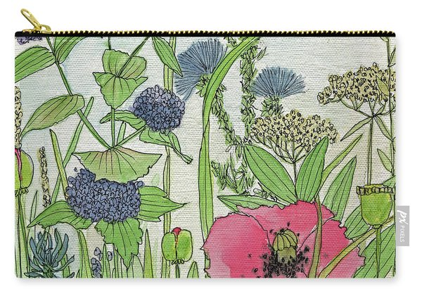 A Single Poppy Wildflowers Garden Flowers Carry-all Pouch