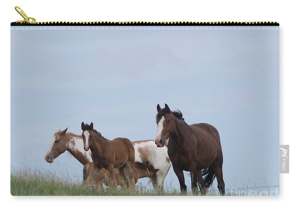 A Small Herd Of Horses Carry-all Pouch