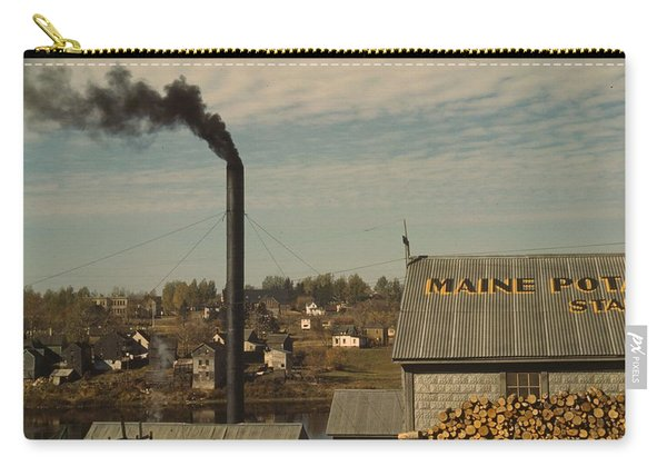 A Starch Factory Along The Aroostook River  Caribou  Aroostook County Maine  October 1940 Photo By Carry-all Pouch